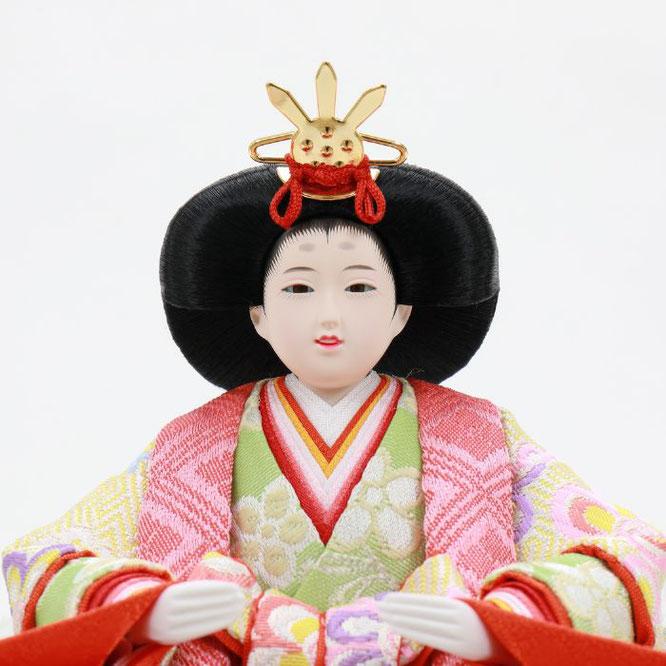 ひな人形 五人収納箱飾り 4H16-GP-019 女雛(顔)