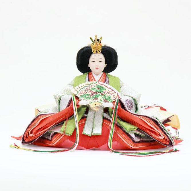 ひな人形 五人飾り 4H15-GP-005 女雛(正面)