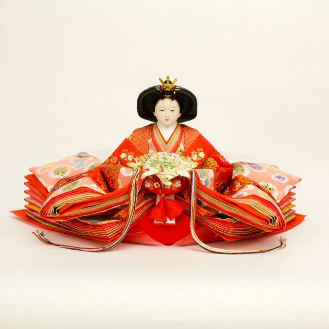 ひな人形 五人飾り 4H15-GP-001 女雛(正面)