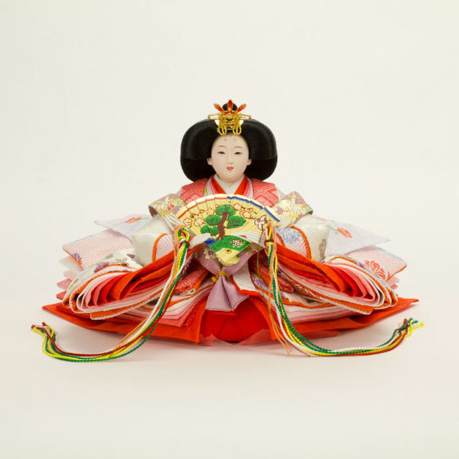 ひな人形 親王収納箱飾り 4H12-GP-073 女雛(正面)