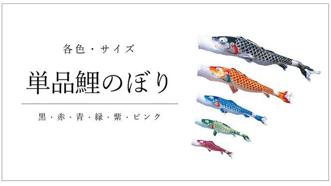 単品鯉のぼり