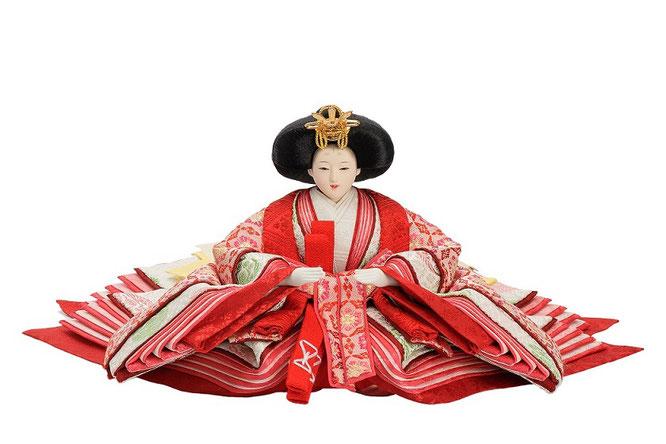 優香作ひな人形 七宝華紋 女雛(京十二)