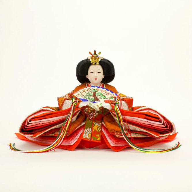 ひな人形 親王収納箱飾り 4H12-GP-066A 女雛(正面)