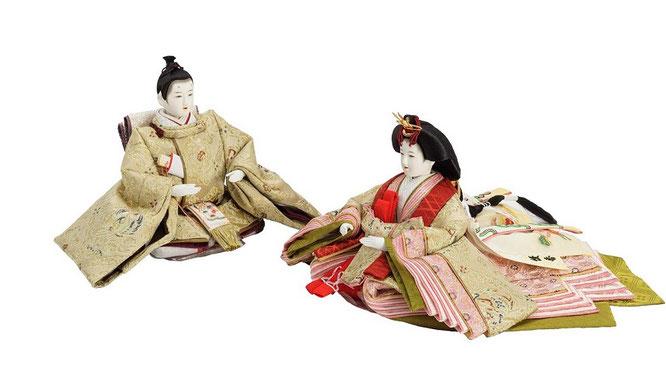 優香作「親王飾り」麟鳳襷紋 男雛と女雛(京十二)