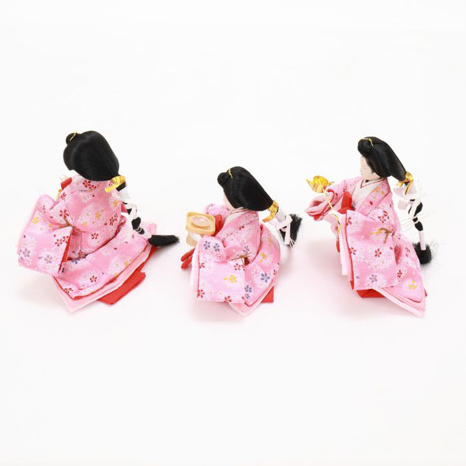 ひな人形 五人収納箱飾り 4H16-GP-023 三人官女(横)