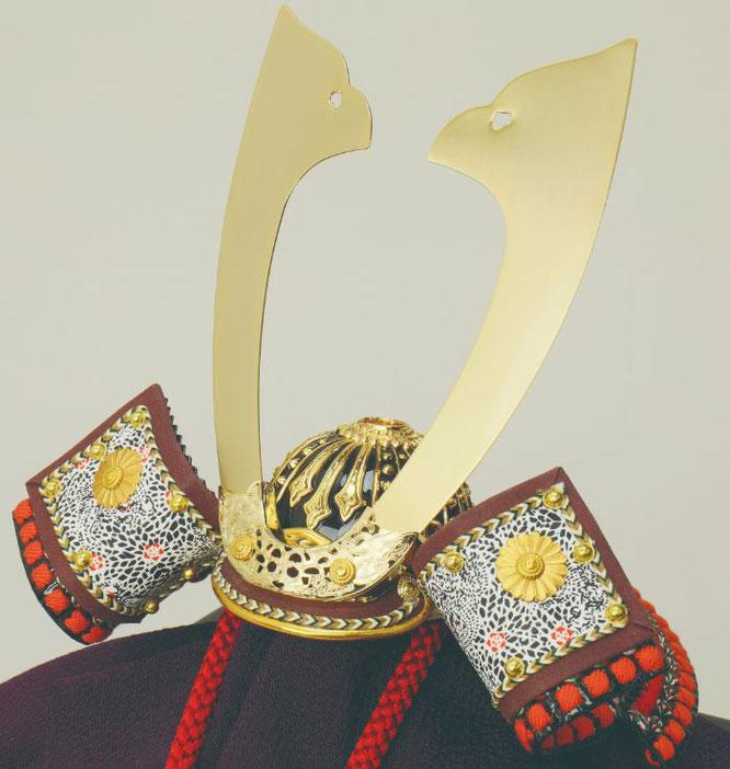 辰広作「兜1/5平飾り」品番:6F21-GG-208 透かし金具