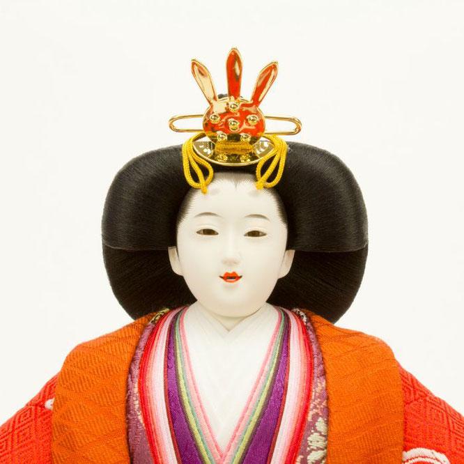 ひな人形 立雛飾り 4H13-GP-302 女雛(顔)
