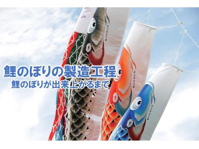 鯉のぼりの製造工程