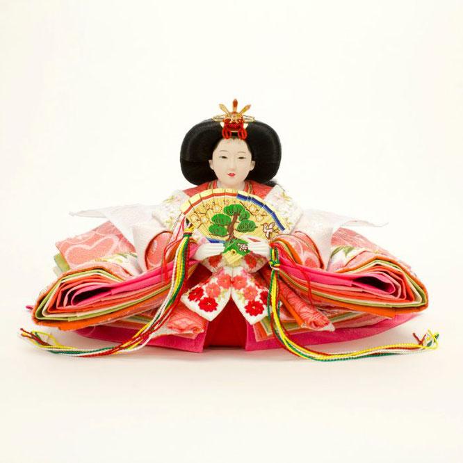 ひな人形 親王飾り 4H11-GP-043 女雛(正面)