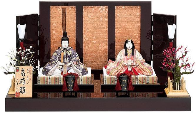 真多呂人形 親王飾り「高雄雛セット」品番:1264 伝統的工芸品