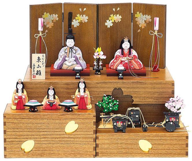 真多呂人形「東山雛5人飾り」B 品番:1379