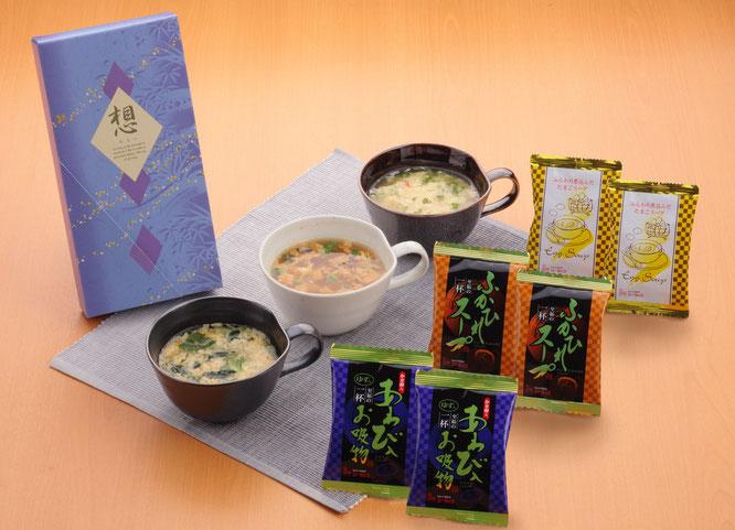 初盆用返礼品 あわび・ふかひれ・たまごスープ詰合せ 1,080円