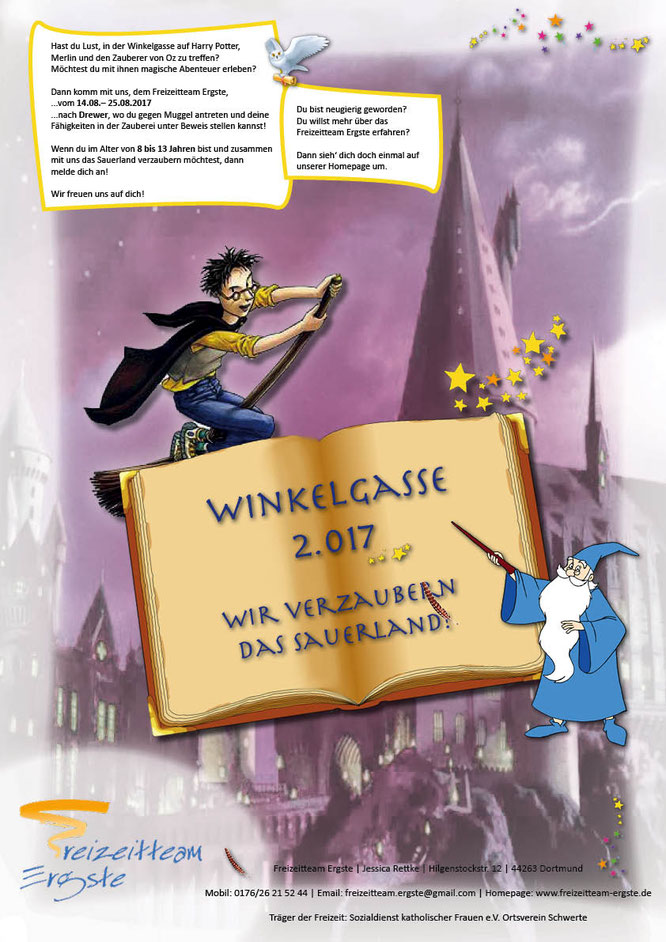 Motto der Ferienfreizeit 2017: Wir verzaubern das Sauerland!
