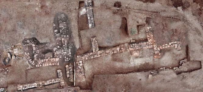 Les restes de bâtiments résidentiels trouvés à Tenea datent d'environ 300 avant notre ère à 400 de notre ère. Crédit: photo avec la permission du Ministère grec de la Culture