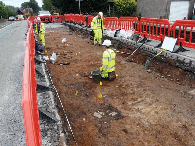 Les restes d'une colonie extra-muros et d'une route romaine, associés au fort de Bravoniacum, ont été découverts près de Kirkby Thore, dans le Cumbria. Crédit : GUARD Archaeology Ltd