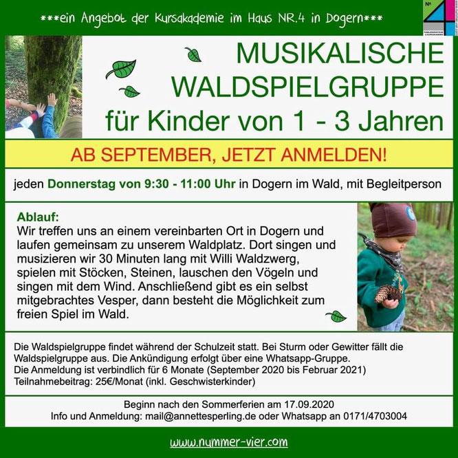 Musikalische Waldspielgruppe in Dogern mit Annette Sperling