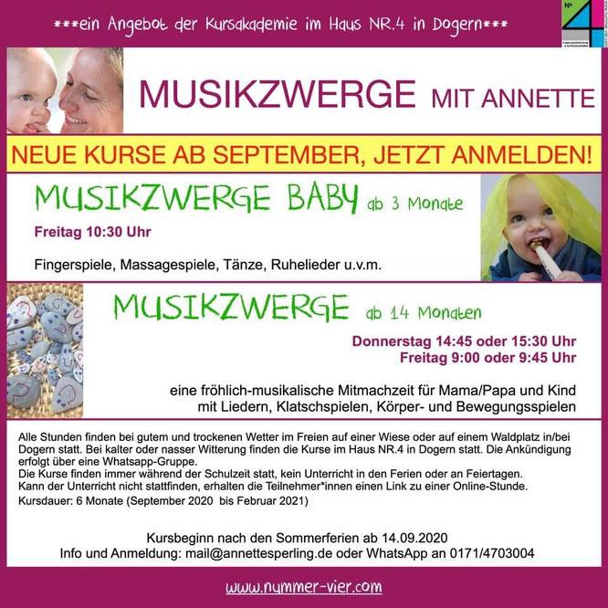 Musikzwerge Dogern mit Annette Sperling