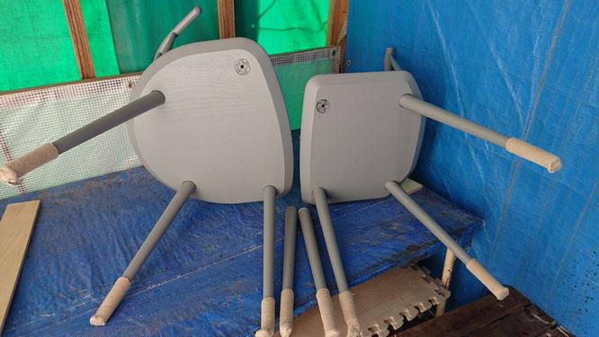 椅子脚修理 修理前