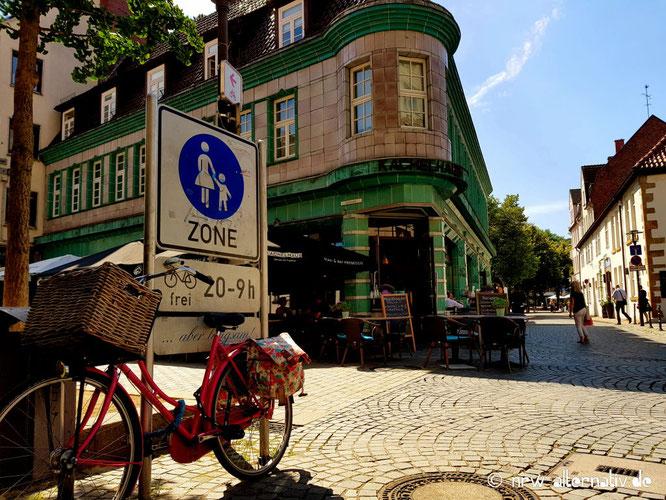 Das Bild zeigt einen Blick in die Altstadt von Bielefeld.