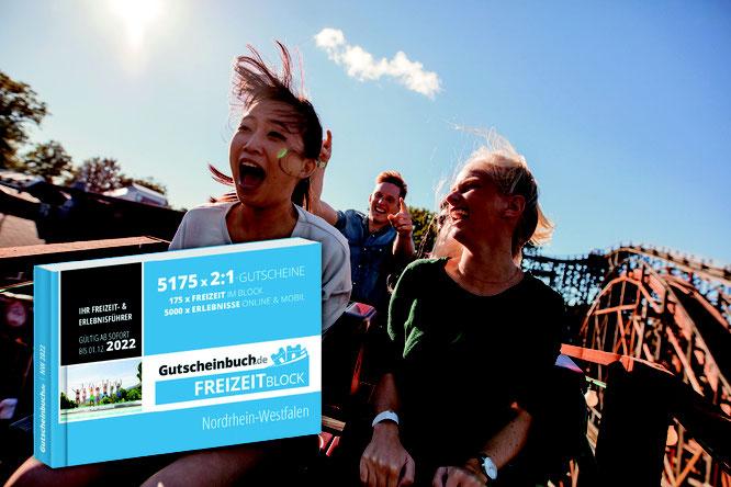 Vergünstigter Eintritt in Freizeitparks - das und viel mehr bieten die Gutscheine des Freizeitblocks. (Bild: gutscheinbuch.de)