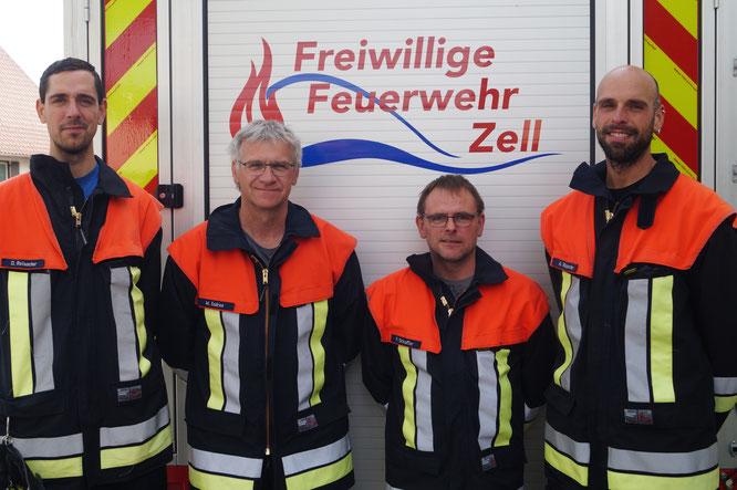Die Maschinisten der Feuerwehr Zell