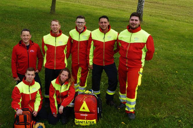 Die Sanitäter der Feuerwehr Zell