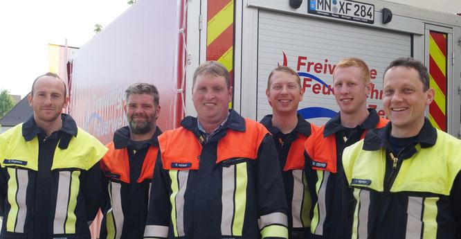 Die Gruppenführer der Feuerwehr Zell