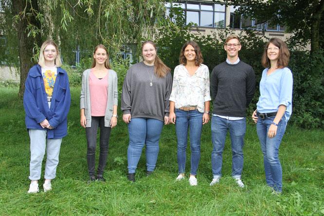 Bild (v.l.n.r): Isobell Fraser, Sarah Möckel, Linda Schneeberger, Elena Hebling, Felix Rieber, Anne Helmers. Nicht auf dem Foto ist Patricia Schromm.