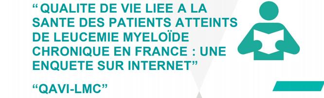 Qualité de vie-LMC-LMC France-QAVI-Patients-Leucémie-Cancer-Enquête-Santé-Leucémie Myéloïde Chronique