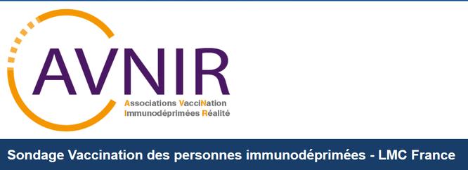 sondage vaccination avnir lmc france cancer leucemie myeloide chronique
