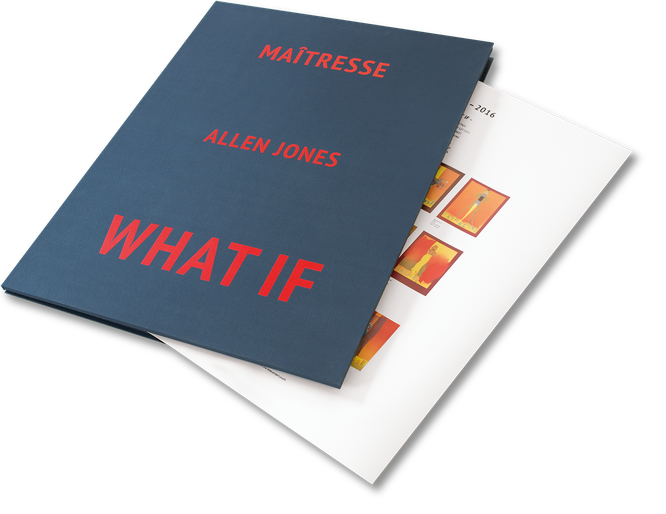Allen Jones, Mairesse, What If, Cover, Buch, Book, Katalog, Catalogue, Layout, Gestaltung, Buchgestaltung, Typografie, Typography, claasbooks, Claas Möller