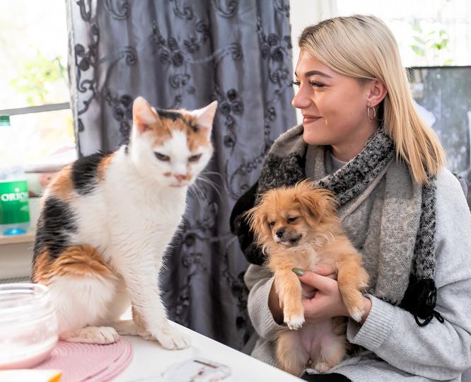 Emma, Mayla und Tochter vereint © mainhattanphoto/Friedhelm Herr