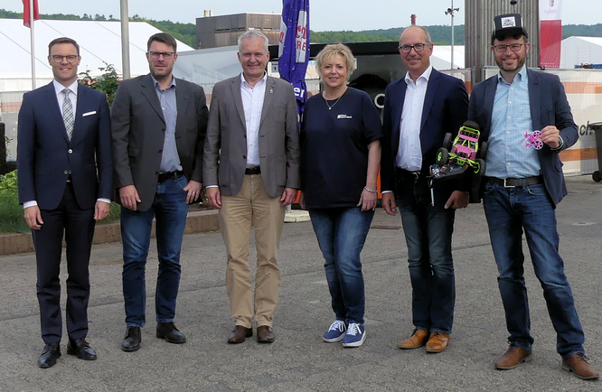 Presserundgang 2019 mit Bürgermeister Weiher und Messe-Geschäftsführerin Ute Metzler © dokubild.de / Klaus Leitzbach