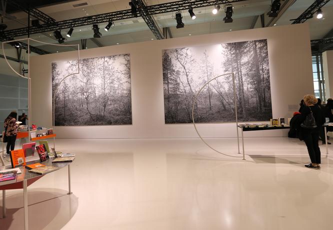 Blick in Norwegens Ehrengast-Pavillon © Klaus Leitzbach/FRANKFURT MEDIEN.net