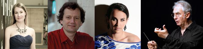 g. à d. : Bernard TéTU, Ensemble 20.21., Classe de violoncelle HEM Genève et Piotr MOSS