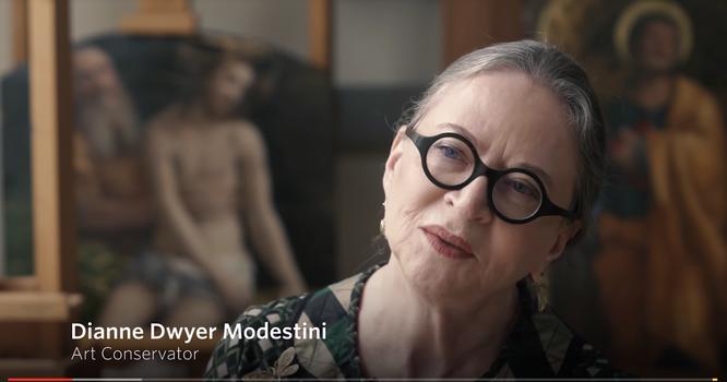 美術修復家ダイアン・ドワイヤー・モデスティーニ。