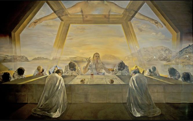 サルバドール・ダリ《最後の晩餐の儀式》1955年