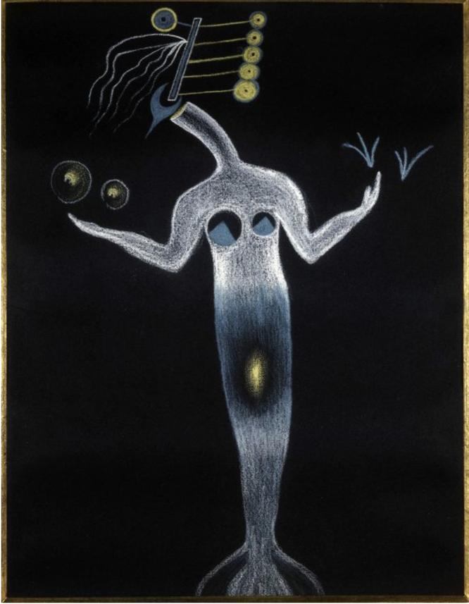 ※1:ポール・エリュアール、ナッシュ・エリュアール、アンドレ・ブルトンとの「優雅な死体」作品。