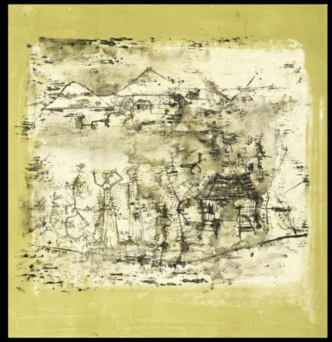 Paysage a L'Homme Les Mains Levees, 195 Lithograph 19 × 18 in 48.3 × 45.7 cm