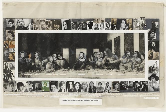 メアリー・ベス・エデルソン《生存中のアメリカ人女性芸術家/最後の晩餐》1972年