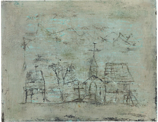 09.08.50, 1950 Oil on canvas 13 × 16 3/10 in 33 × 41.3 cm