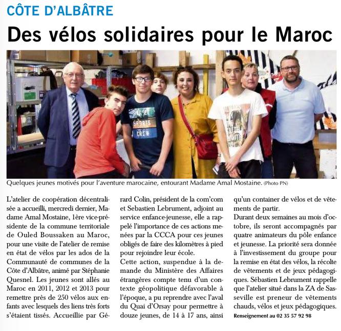 Des vélos pour le Maroc