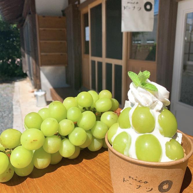 地元産季節のフルーツで作るパフェの写真