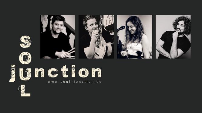 soul junction Quartett, v.l.n.r.: Andreas Kutschera, Ludwig Klöckner, Natalie Elwood, Josef Reßle (© jeweils bei den Musikern außer Foto von Natalie Elwood ©Bernd Schaffrath)