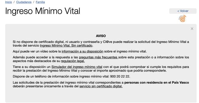 Para solicitar el IMV debes de rellenar un formulario y aportar documentación