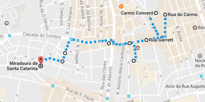 Lisbona  - Itinerario Chiado