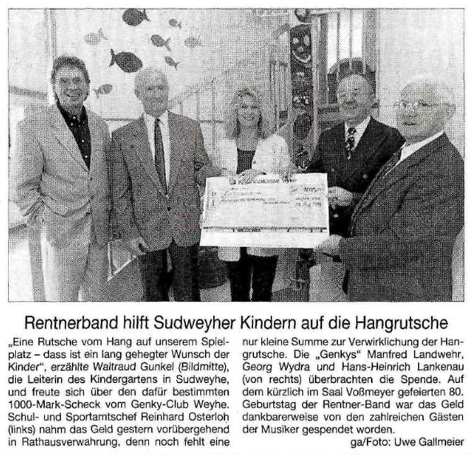 Weser-Kurier vom 20. 8. 1999