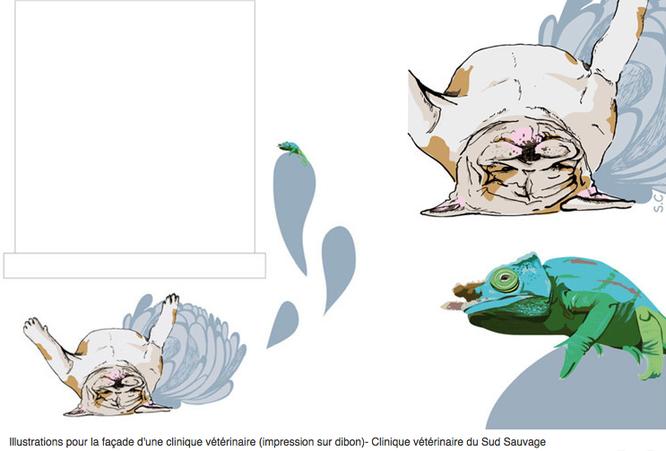 Projet Illustrations Imprimes Sur Dibon Pour La Faade Logo Cartes De Visite