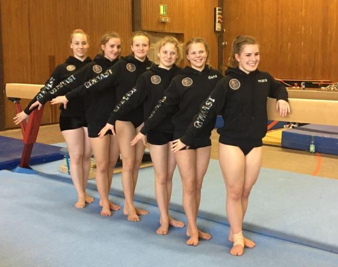 v. h. Mareike Freund, Mia Höcke, Sophia Eichelsbacher, Nele Bredebusch, Dana Coerdt, Mara Steinborn
