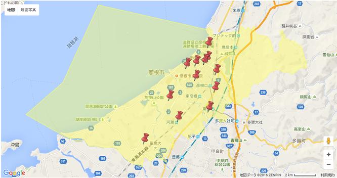 彦根市幼稚園情報マップ
